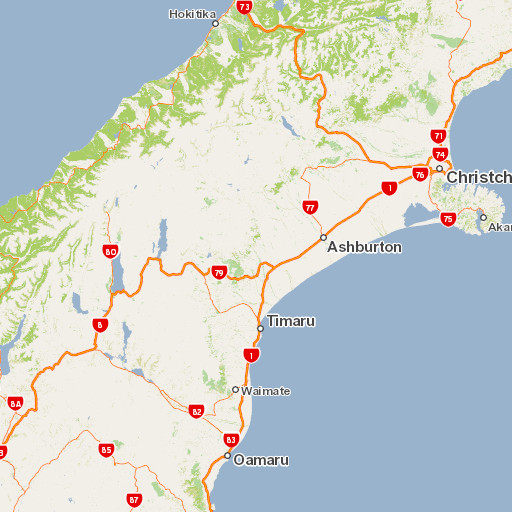 Map Of Canterbury New Zealand.Canterbury Places To Go