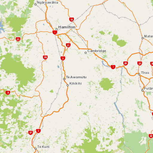 Hamilton Map New Zealand.Pirongia Forest Park Places To Go In The Waikato Region