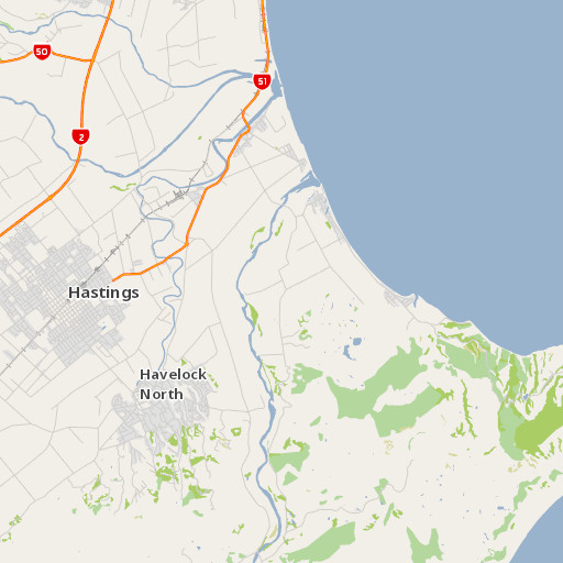 Hastings New Zealand Map.Cape Kidnappers Te Kauwae A Maui Walking Track Cape Kidnappers